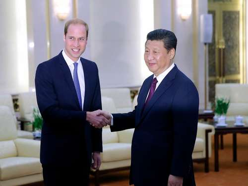 Prinz William in China empfangen